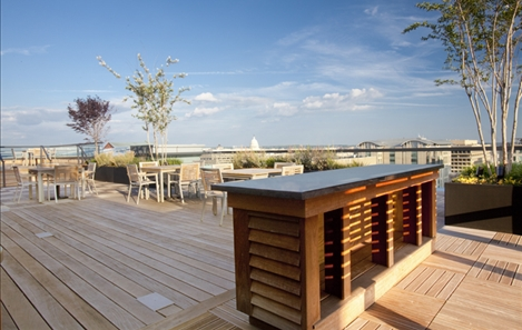Roof Deck with Client Entertainment Space
